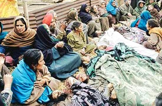 Bodies of victims killed in Chattisighpora massacre - Image courtesy: Sikh Siyasat