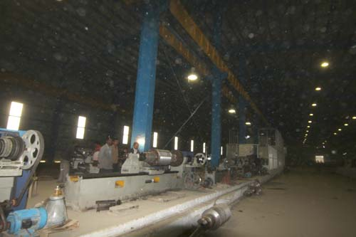 The inner view of Himalayan Rolling Steel Industries Private Limited at Rangreth.Pic: Bilal Bahadur