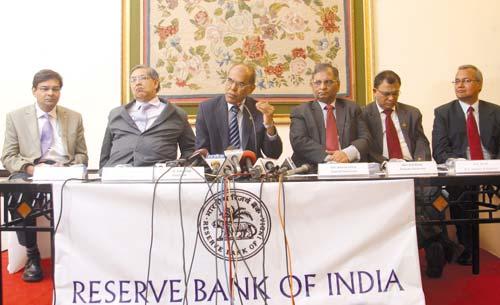 RBI Governor D Subbarao addressing a press conference in Srinagar.Pic Bilal Bahadur