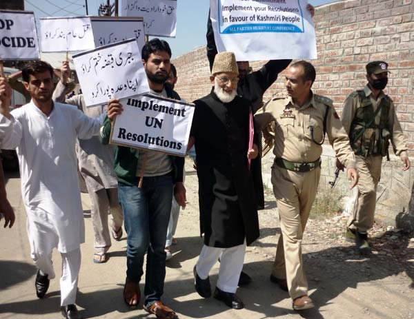 Incarcerated Icon: And then big news of the day emerged. Syed Ali Geelani was arrested while steeping outside his home for UN chalo.