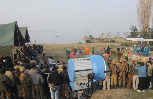 Sequences of Haider shot at SKICC in Srinagar.  Pic: Bilal Bahadur