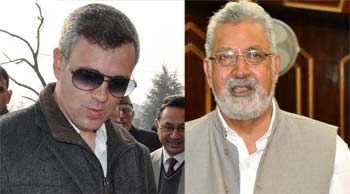 Omar Abdullah and Taj Mohi udin