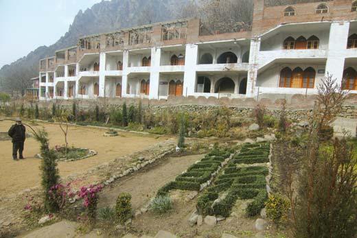 Boys hostel of Scholars School in Daara, Harwan Pic: Bilal Bahadur