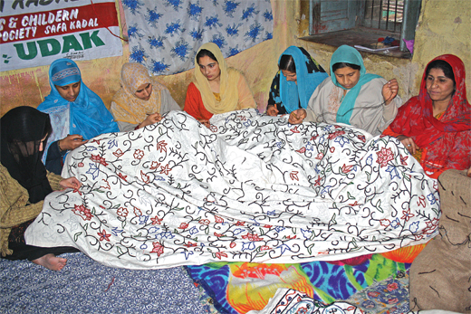 Kashmiri women embroieders