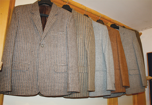 Poshish coats at a state run show room