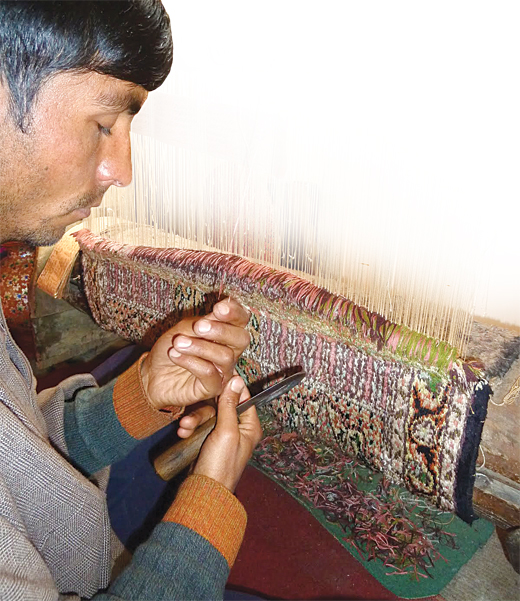 Weaving a carpet