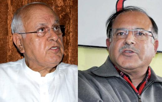 Dr  Farooq Abdullah and Tariq Hamid Karra
