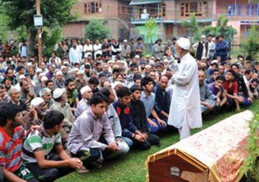 Funeral-prayers-of-ex-militant-killed-in-Bijbehara