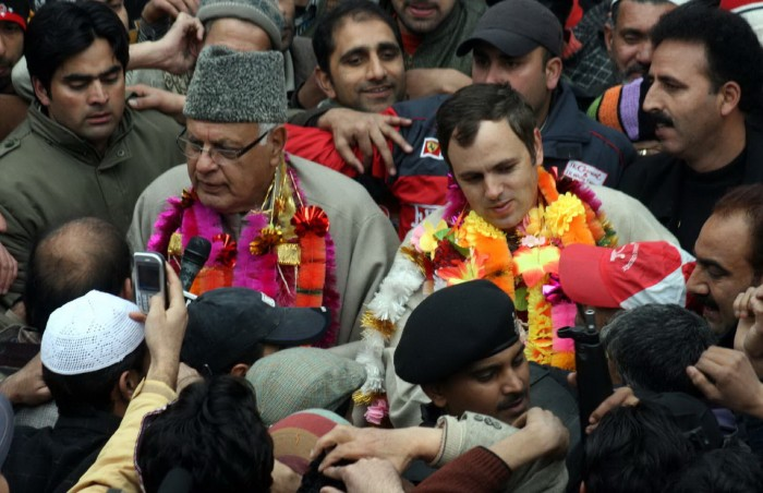The father-son duo during 2008 Assembly elections.