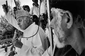 Farooq Abdullah addressing a rally in 1996
