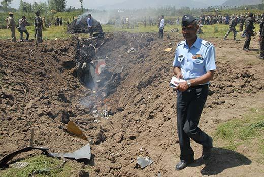 The crash that killed Gulati and Khan was probably the 95th crash in Kashmir involving IAF. Pic: Bilal Bahadur
