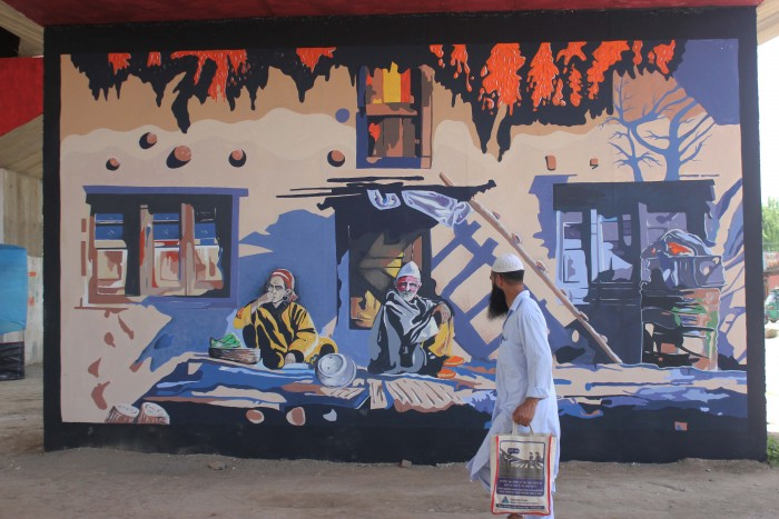 Murals on painting. Pic by Durdana Bhat