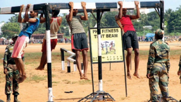 Army Recruitment Rally in this file pic.