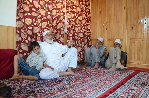 Sheikh Mohammad Yousuf, father of Sheikh Altaf. KL Image: Bilal Bahadur