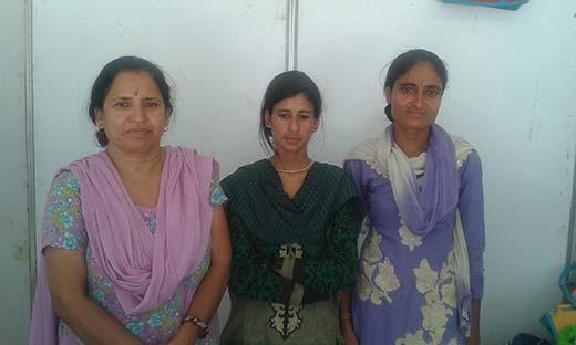 Champa Devi (L), Rajni Devi (M)