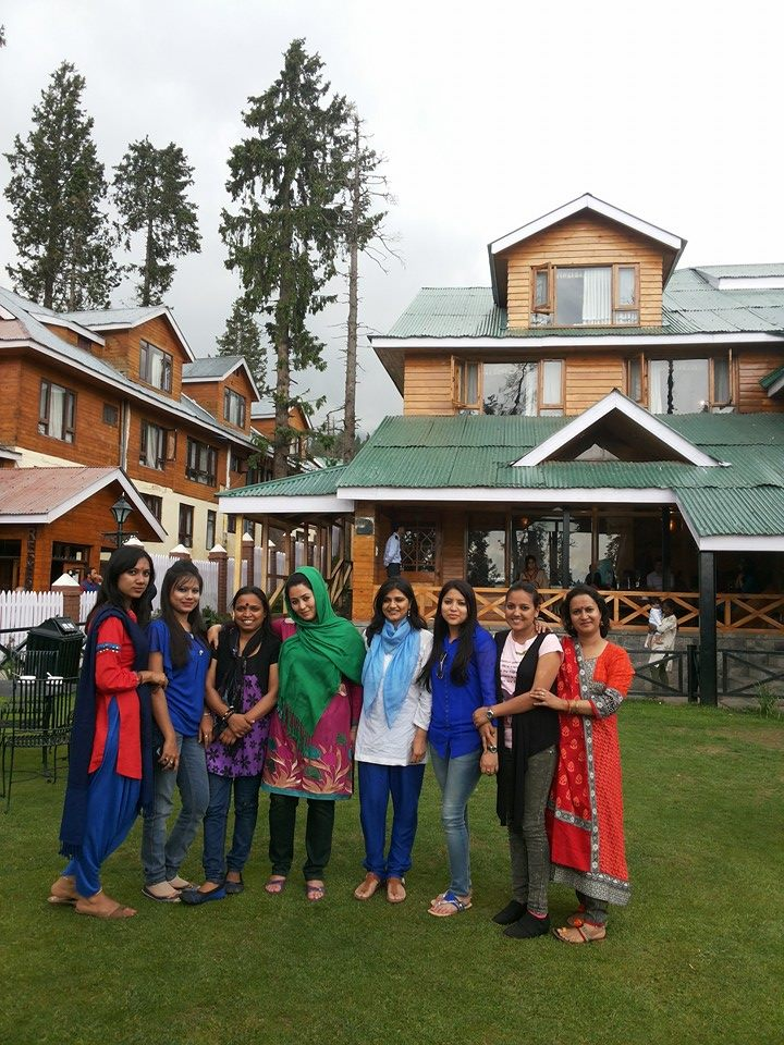 Kabita Kharka, a Bhutanese, along with her other South Asian mates in Gulmarg in 2014.