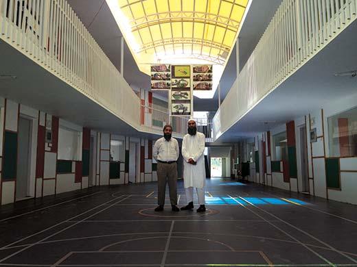 Mubashir and Tauseef inside the school.
