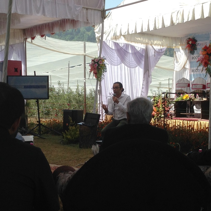 Rapt Attention: Mufti listens keenly Khurram Mir.
