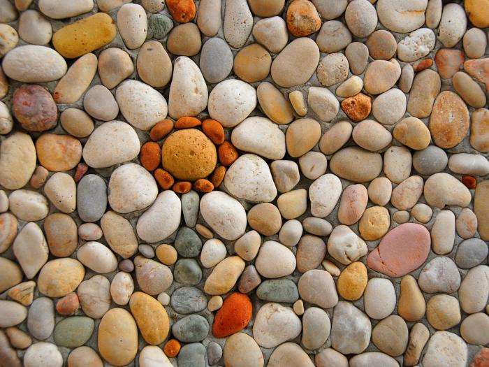 stone mosaic wall ink_bluesky