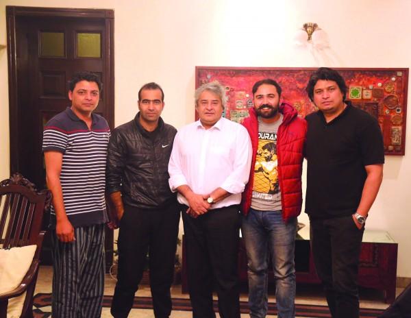 L to R: Abid Saeed Khan, Shams Irfan, Amir Iftikhar, Majid Saed Khan in Islamabad.