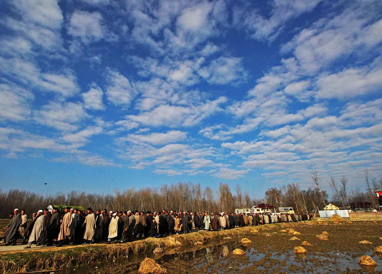 Funeral of EDI gardener, Abdul Gani.