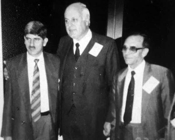 Amanullah Khan with Dr Farooq Abdullah.