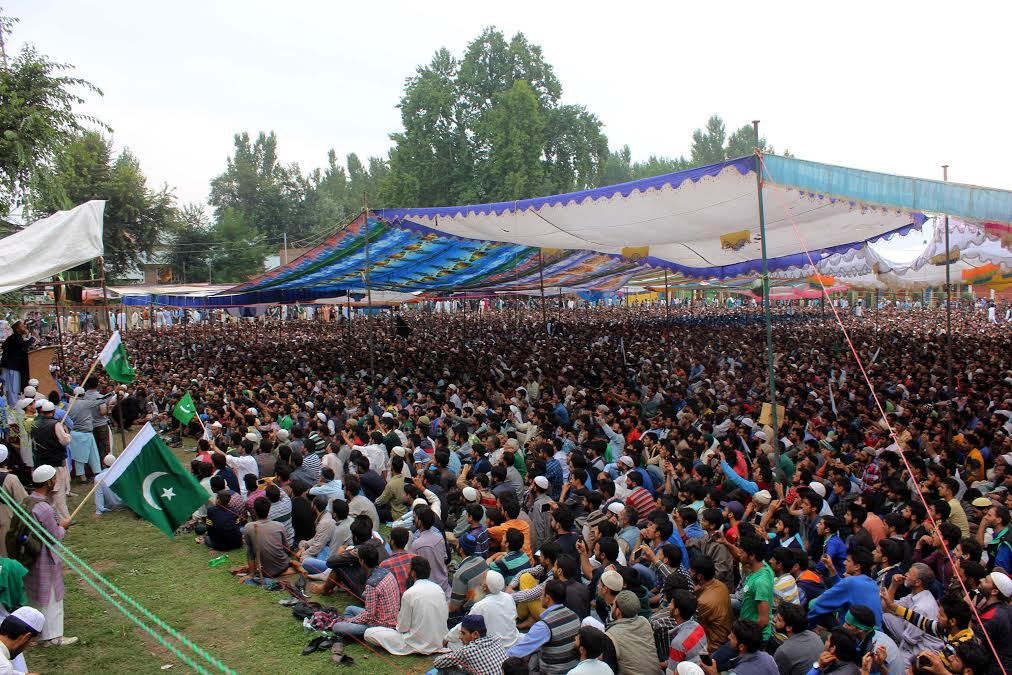 A massive pro-freedom rally was held in Bugam in South Kashmir's Kulgam district on August 27, 2016. (KL Image: Shah Hilal)