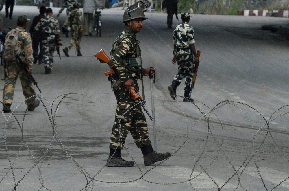 New troopers manning Kashmir streets. (Photo: Bilal Bahadur?KL)