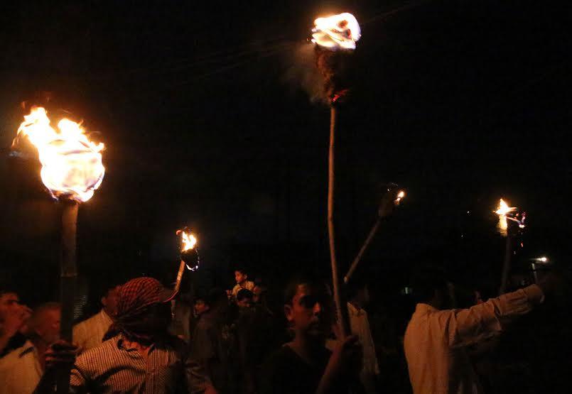 Mashaal March in Batamaloo