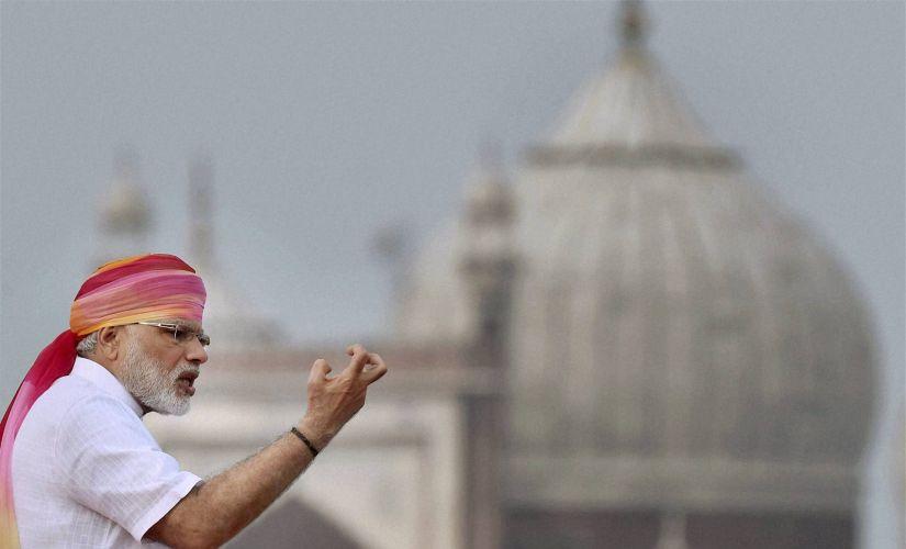 Narendra Modi on August 15, 2016.