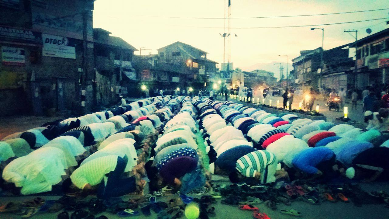 United! Sunnis and Shias offered Maghrib prayers together in Srinagar's Zadibal area on Friday, August 05, 2016.