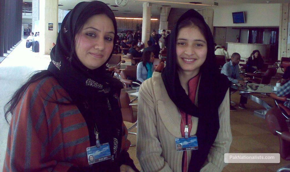 Aneesa Nabi (R) with associate at Geneva.
