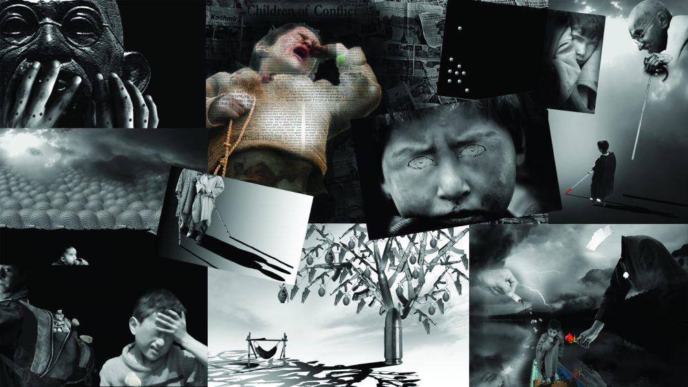 Artist Masood Hussain's Art collage.