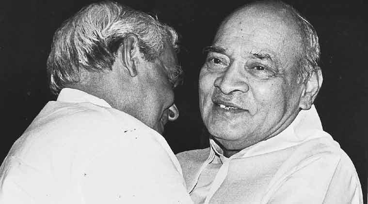 Narasimha Rao with Atal Bihari Vajpayee.