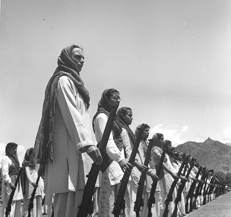 Hamla Awar Khabardaar: Womens Defence Corps in Kashmir, a 1947 photograph