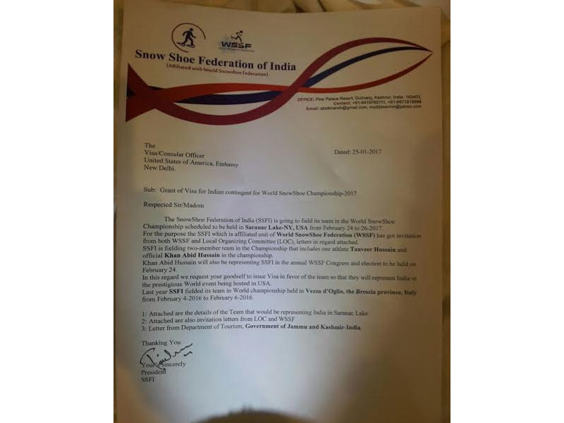 Kashmir Muslim athlete denied U.S. visa due to 'current policy'
